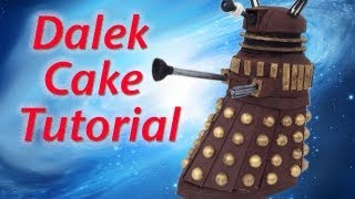 Doctor Who Dalek Cake HOW TO COOK THAT Dr Who Cake 50th Ann Reardon