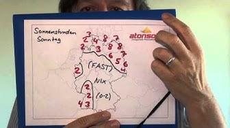 Kachelmann-Atonsolar-Sonnenvorhersage fuer D und CH mit Fruehlings-15-Tage-Vorhersage
