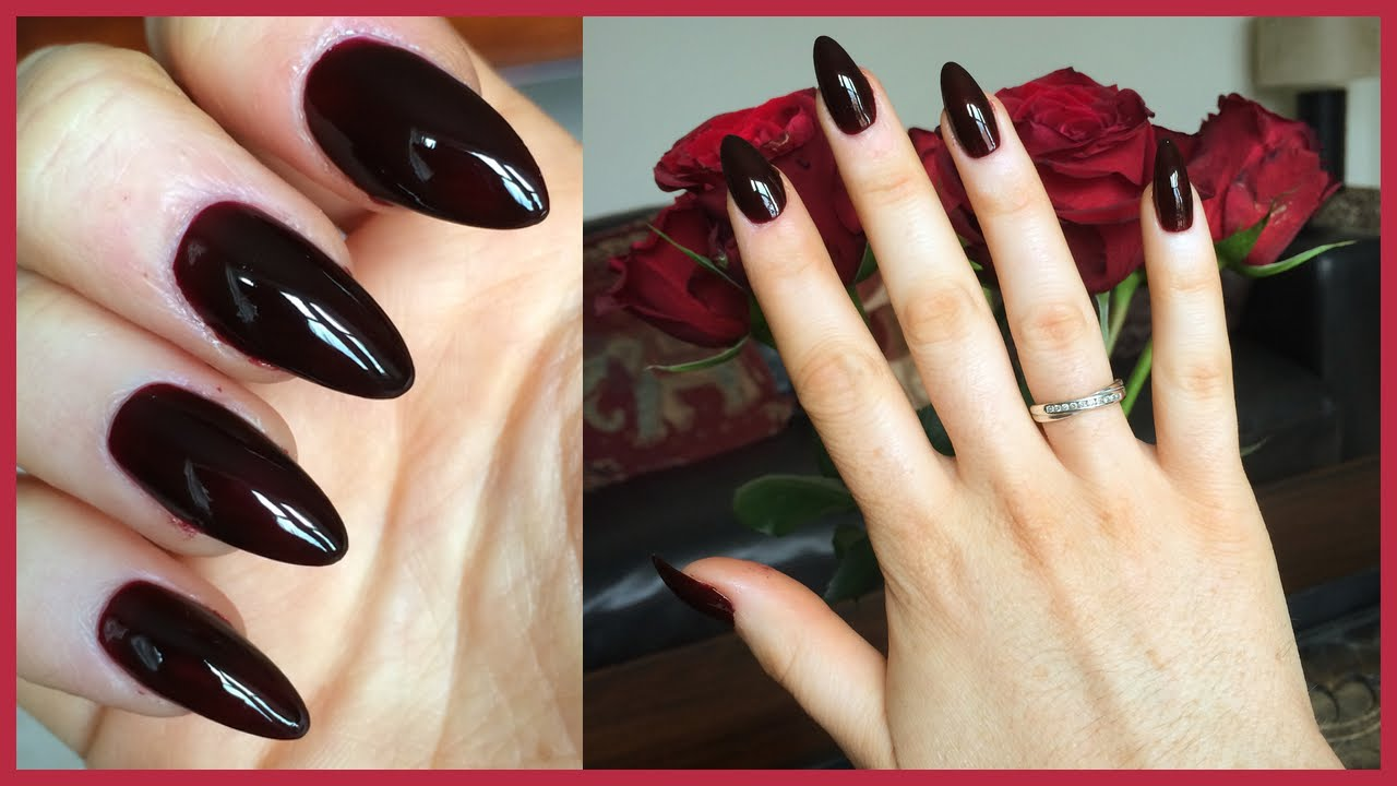 How To Do Stiletto Nails: Step By Step Tutorial! - YouTube