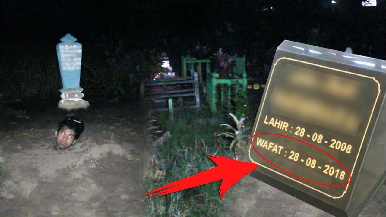 Download KUBURANNYA KELUAR CAHAYA - challenge nyari tanggal lahir di kuburan- Part 2