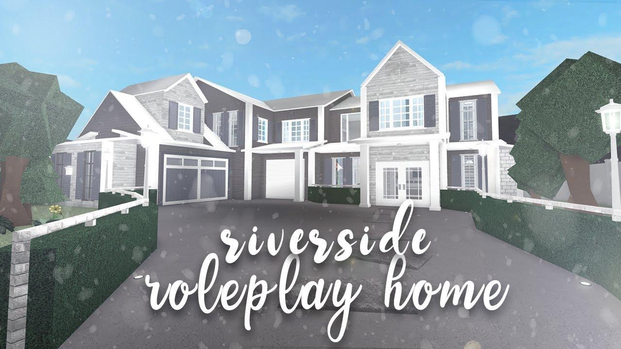 Roblox Bloxburg Riverside Family Home Speedbuild Youtube