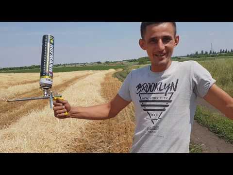 Молодой фермер на донетчине получил высокий урожай пшеницы.