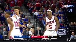 Kansas vs Nebraska Men's Basketball Highlights