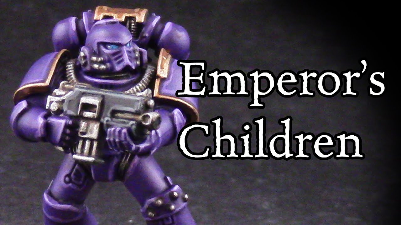 how to paint horus heresy emperors children youtube - Pictures To Paint For Children