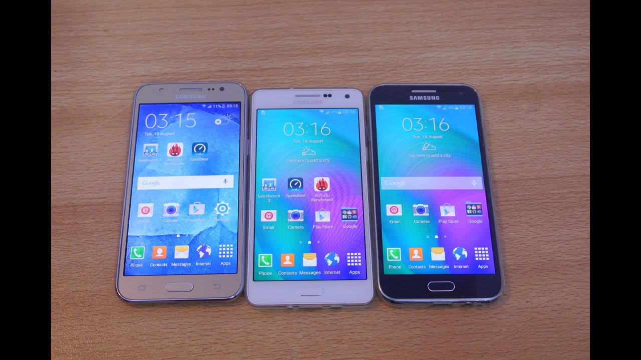 Samsung Galaxy J5 Vs A5 Vs E5