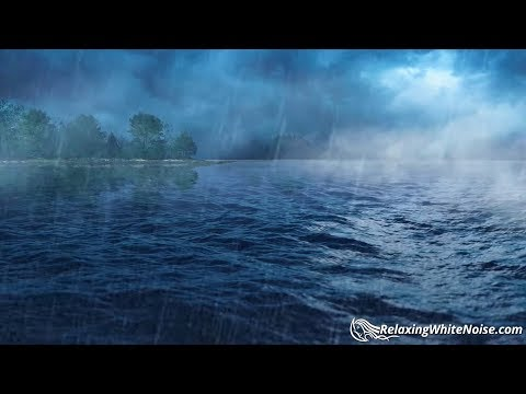 Rain + Ocean Sounds for Sleep, Studying, Soothing Baby | Whi