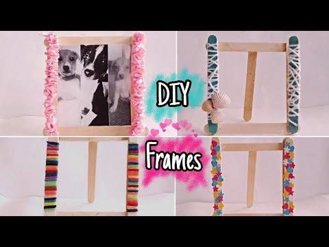 Diy Photo Frames Using Icecream Sticks