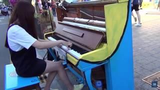 문아람 연주 - 인생의 회전목마 피아노 버스킹  (Me…