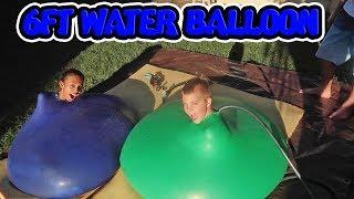 kid swims inside 6 ft water balloon throw back thursday ft becca