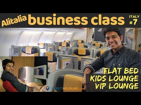 Rome to Delhi: Alitalia Business Class | Business Lounge Rome (FCO)