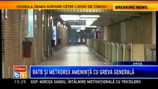 RATB si Metrorex organizeaza o greva generala pe 30 septembrie