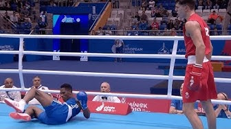 Full fight: Pat McCormack knocks out opponent to reach European games final