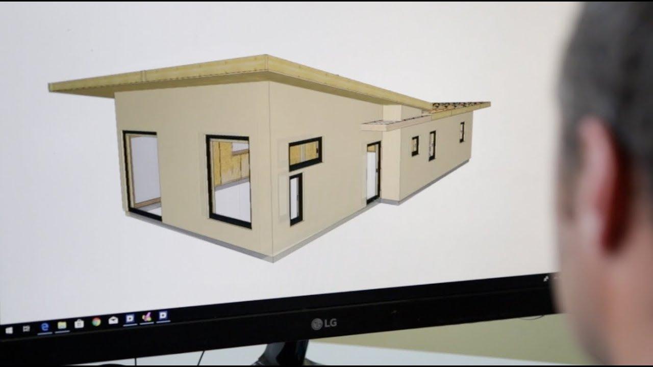 Natur'élément bois : la construction d'une maison écologique en ossature bois. - YouTube