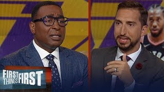 Nick Wright lists top available players for Lakers if Kawhi doesn't sign | NBA | FIRST THINGS FIRST