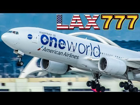 BOEING 777 at LAX! Great Plane & Airport! (more than 20 airlines!)