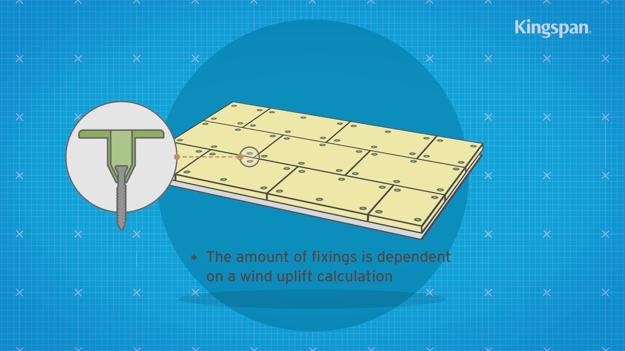 How to install flat or tapered roof insulation over a concrete deck