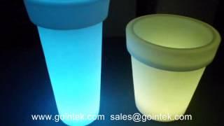 Waterproof Led Outdoor Furniture,illuminated Led Flower Pot,glowing Led Bar Decoration Furniture