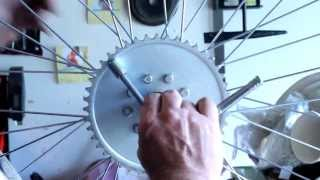 How To Build Motorized Bicycle Part 3 - Install Rag Joint