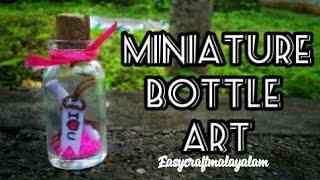 Easy Miniature Bottle Crafts