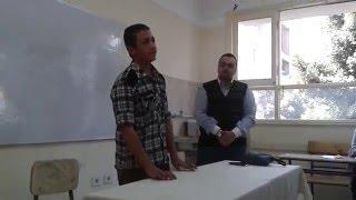 قمر سيدنا النبى عمر غانم مع الدكتور محمد البدرى فى مدرسة جمال عبد الناصر