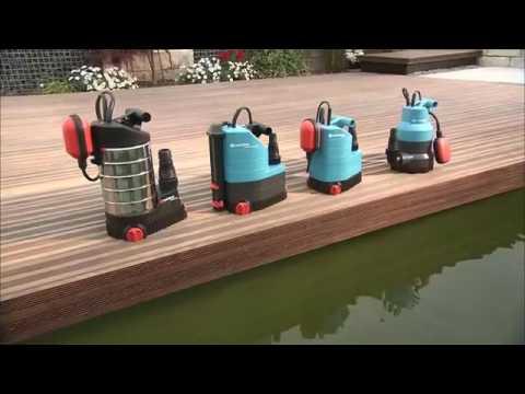 Pompes D Evacuation Eaux Claires Ou Eaux Chargees Gardena Youtube