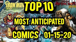 TOP 10 Most Anticipated Comic Books 01-15-20
