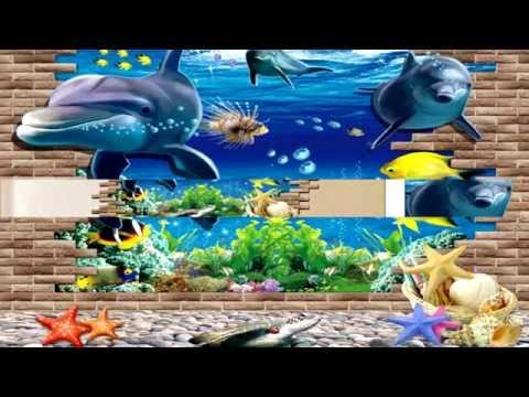 3D Blue Sea World Dolphin Removable Wall Sticker Wallpaper Home Decor