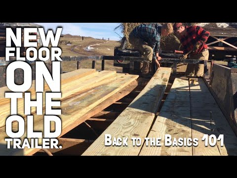 New wood floor on the old flatbed trailer