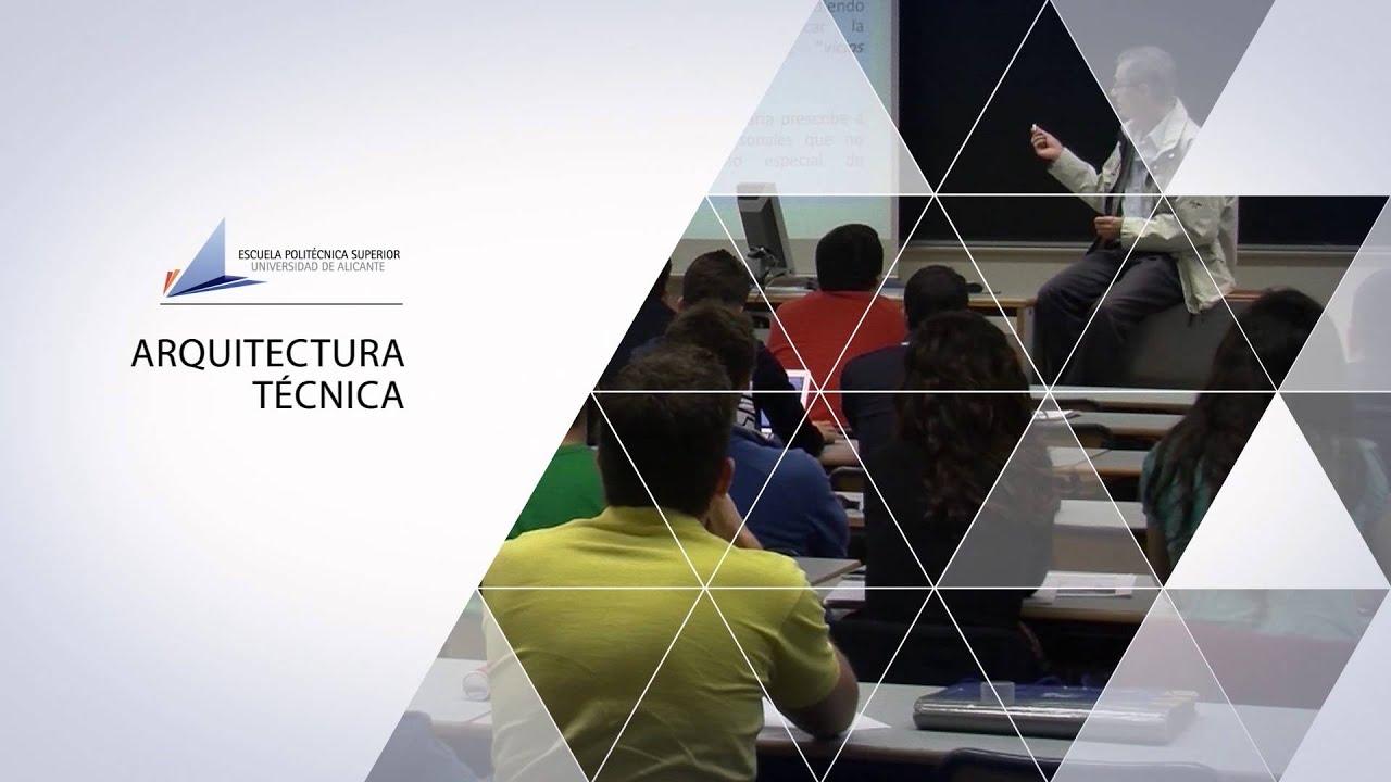 Grado en arquitectura t cnica youtube for Grado en arquitectura