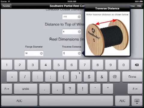 Ipad tutorial for southwire partial reel calculator app youtube ipad tutorial for southwire partial reel calculator app greentooth Images