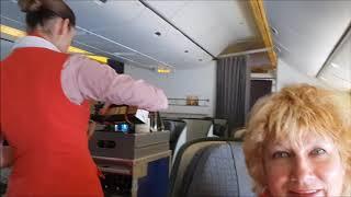 Смотреть видео Бизнес Класс Норд Винд! Чем кормят! Мексика-Москва! онлайн