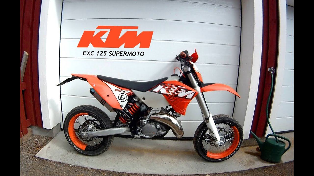 ktm exc 125 supermoto youtube. Black Bedroom Furniture Sets. Home Design Ideas
