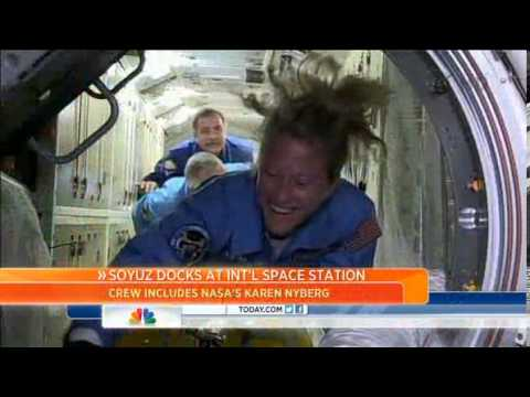 Space station welcomes 3 new astronauts