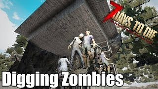 7 Days to Die - Digging Zombies & Animals - How Well Can They Dig? (Alpha 17)