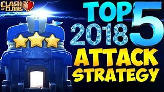 TOP 5 TH12 BEST WAR ATTACK STRATEGY 2018 | New Update | Clash of clans