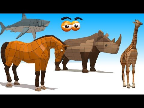 CUBE BUILDER for KIDS (HD) - Various Animals Compilation (4) - AApV