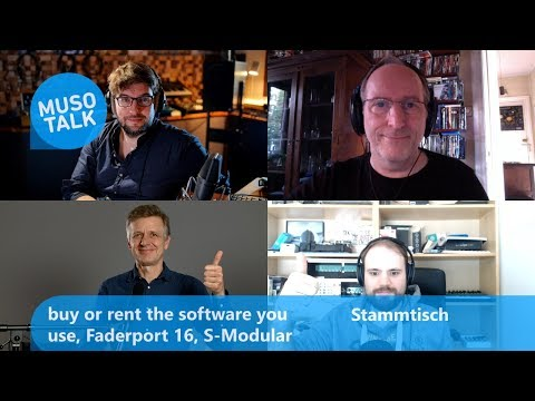 buy or rent the software you use, Faderport 16, S-Modular  - Stammtisch