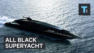 All black superyacht
