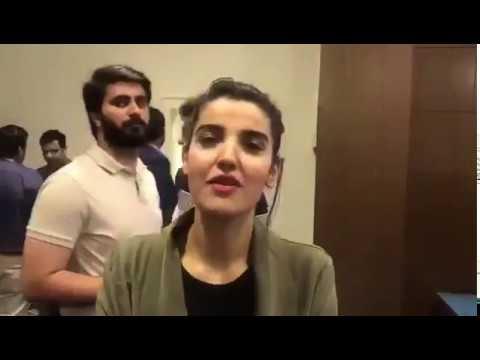 Karachi Kings brand Ambassador Hareem farooqi talk to media  about HBL PSL 3 | Must watch