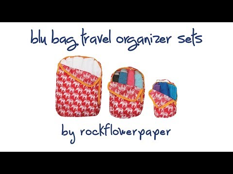 How to Pack with blu bag Travel Organizer Sets, by rockflowerpaper