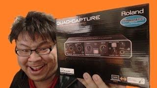 roland usb audio interface quad capture ua 55買ってみた
