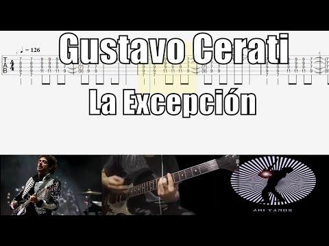 Gustavo Cerati La Excepción Cover Guitarra Con Tablatura