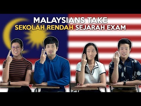 Malaysians Take Sekolah Rendah Sejarah Exam