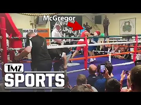 Did Conor McGregor throw a cheap shot during charity boxing exhibition in Dublin?