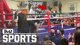 McGregor Takes A Cheap Shot In Dublin Boxing Match | TMZ Sports