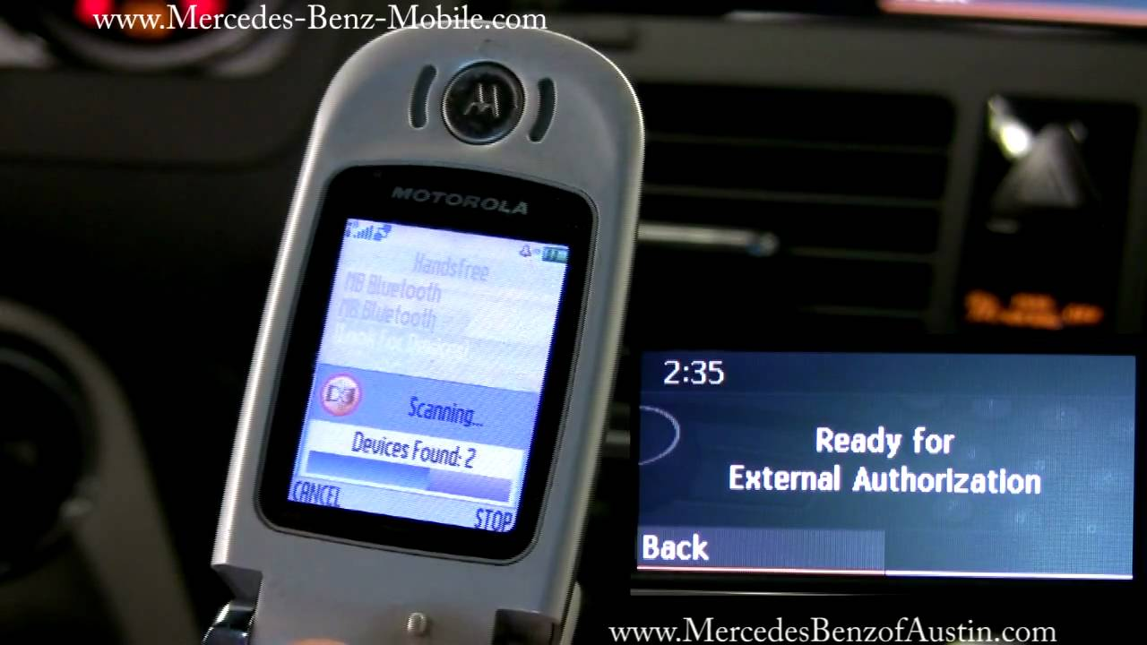 How to pair your motorola flip phone to your mercedes benz for How to connect phone to mercedes benz