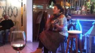 Clari singing live in Laly's Bar at Puerto Rico, La Palma
