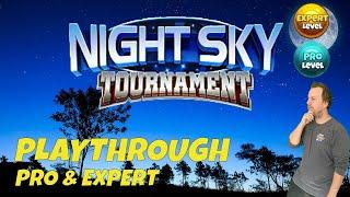 Golf Clash tips, Playthrough, Hole 1-9 - PRO & EXPERT, Night Sky Tournament!