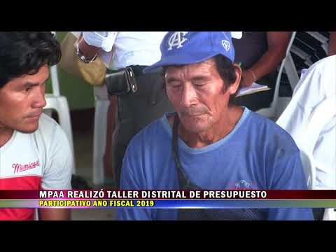 MPAA REALIZÓ TALLER DISTRITAL DE PRESUPUESTO PARTICIPATIVO AÑO FISCAL 2019