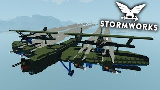 PLANES ON PLANES!?  -  Fire, Tsunami and Death!?  -  Multiplayer  -  Stormworks: Build and Rescue